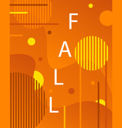 artistic fall modern background in memphis style vector image