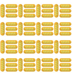 bakery seamless pattern food background baked vector image