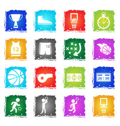 Basketball simply icons vector