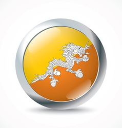 Bhutan flag button vector