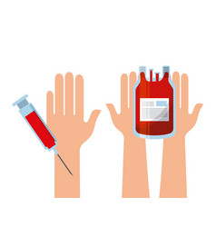 Blood bag and injection vector
