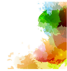 bright colorful paint splatter background design vector image
