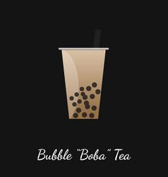 bubble boba tea vector image