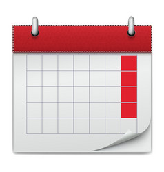 calendar icon notebook business planning vector image