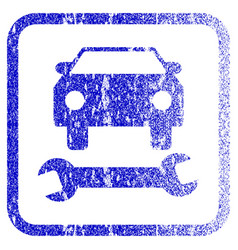 Car repair framed textured icon vector
