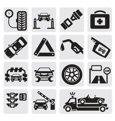 Car service set vector image