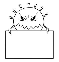 Cartoon coronavirus covid-19 as dangerous vector