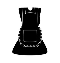 Cartoon dress with pinafore silhouette isolated vector