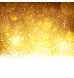 Christmas Gold Background vkr vector image