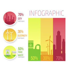 City electricity toxic waste infographic poster vector