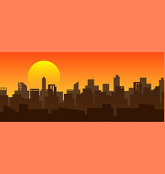 cityscapes sunrise in morning vector image
