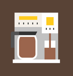 Coffee maker coffee related flat style icon vector