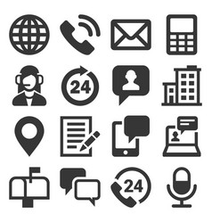 contact us icons set on white background vector image