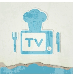 Cute retro tv vector image