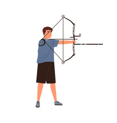 disabled athlete archer aiming hold sports bow vector image