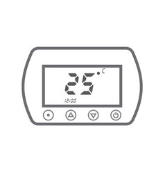 electronic thermostat with a screen under floor vector image