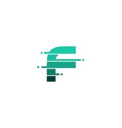 F letter pixel logo icon design vector