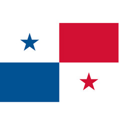 flag of panama in national colors vector image