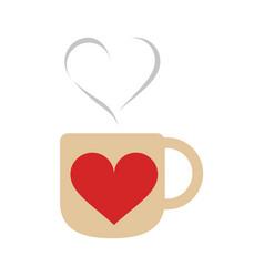 gift heart flat vector image