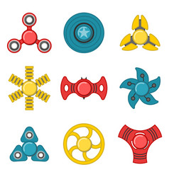 hand fidget spinner extra colorful icon set vector image