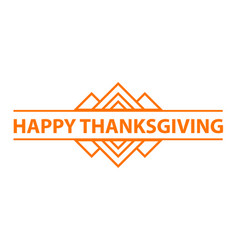 happy thanksgiving day logo simple style vector image
