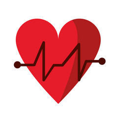 Heart beat pulse cardiac medical icon vector