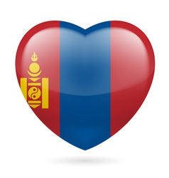 Heart icon of Mongolia vector