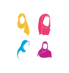 Hijab woman religious graphic design template vector