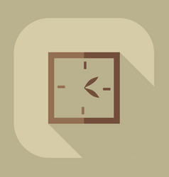 Icons in a flat style clock vector