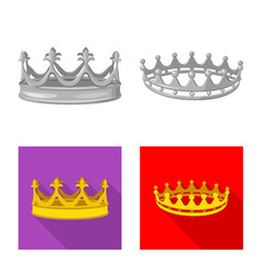Isolated object medieval and nobility logo vector