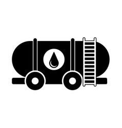 isolated oil container icon vector image