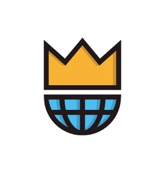 King of the world symbol icon or logo vector image