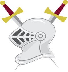 Knight Helmet vector
