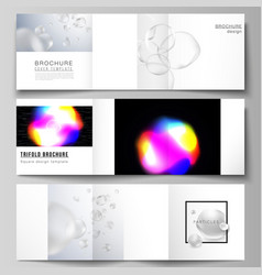 layout of two square format covers design vector image