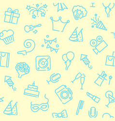 linear birthday seamless background vector image
