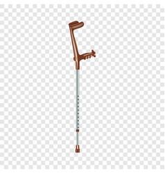 Medical elbow crutch icon realistic style vector