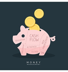 Money Management Piggy Bank vector image