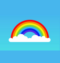 rainbow cloud icon rainbow vector image