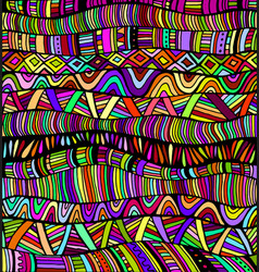 Rainbow colors abstract pattern maze ornaments vector