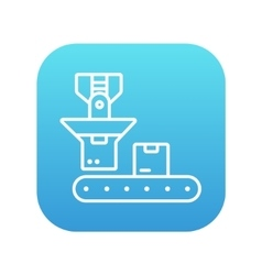 Robotic packaging line icon vector image