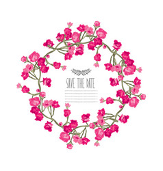Roses floral wreath vector