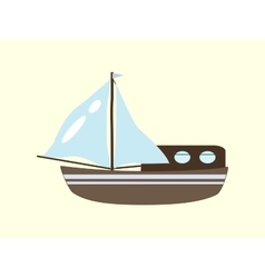 Sailboat yacht cruise trip vector
