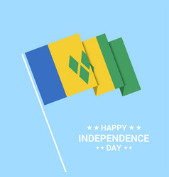 Saint vincent and grenadines independence day vector
