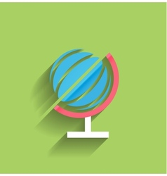 School globe flat design vector image