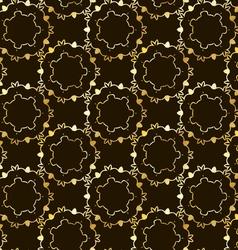 Seamless elegant gold pattern vector image