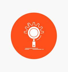 seo search optimization process setting white vector image