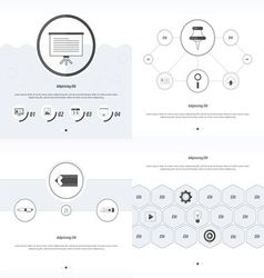 Set 4 item Design Concept office black and white vector image