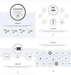 Set 4 item Design Concept office black and white vector
