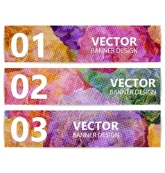 set floral banners or backgrounds abstract vector image