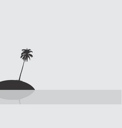 Silhouette of an island vector